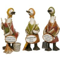 Complete Set of 3 of the David Ducks Ornaments - Mrs Mop